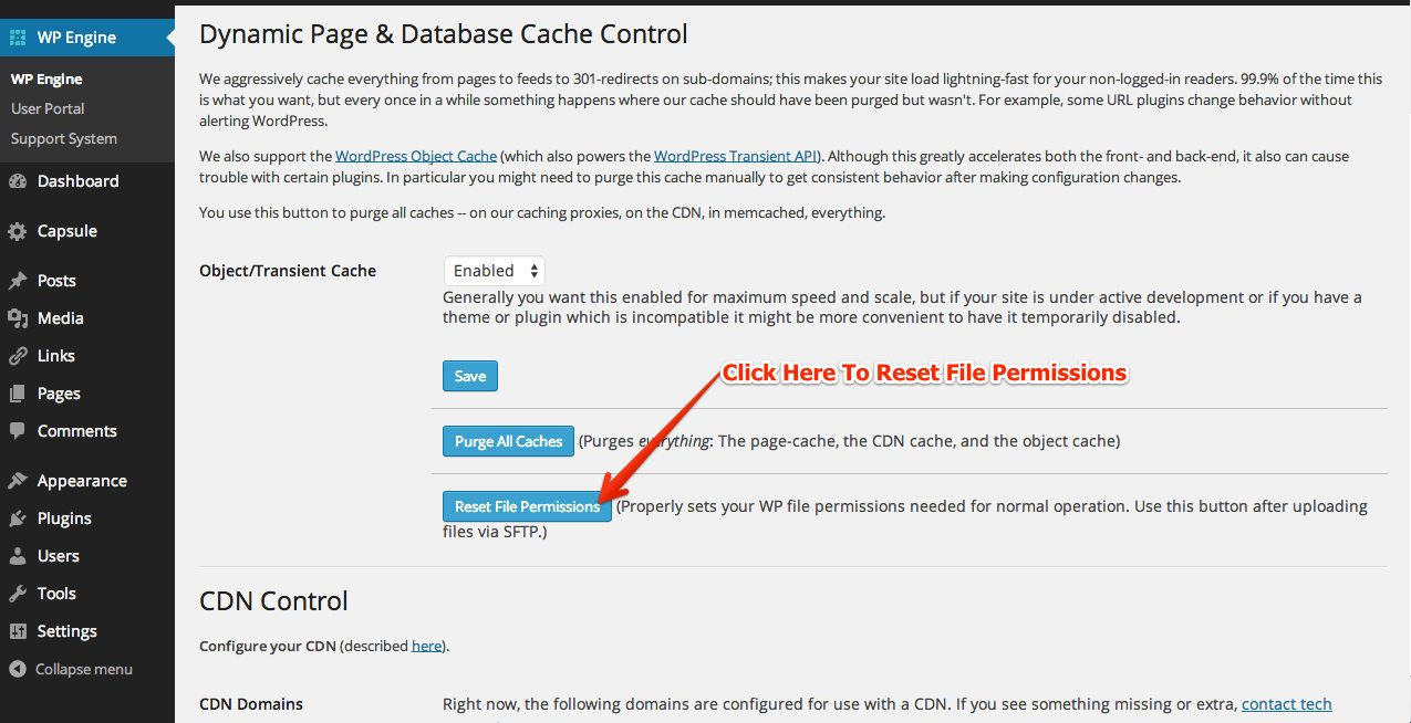 How To Reset File Permissions In WordPress | WP Engine®