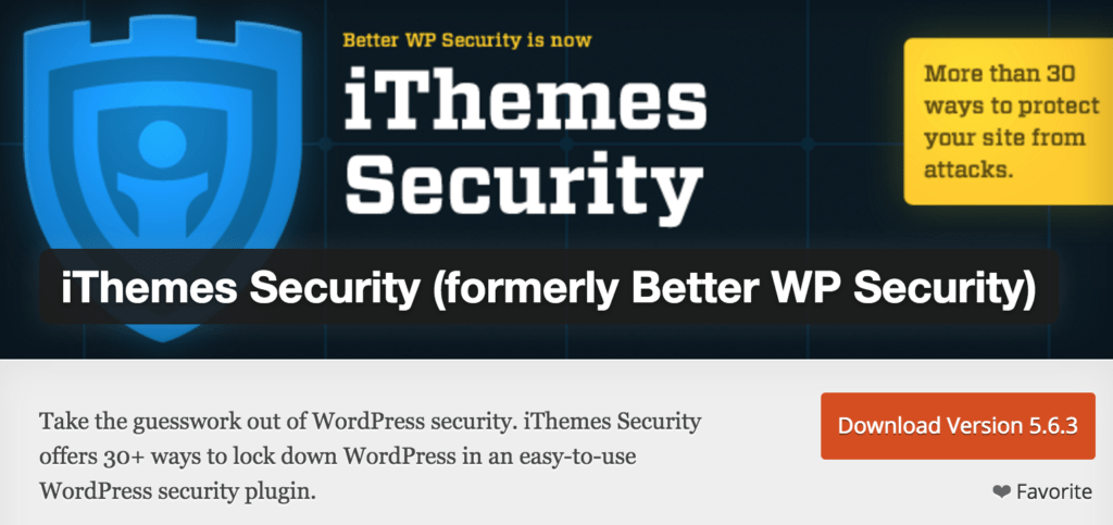 WordPress Security: iThemes Security