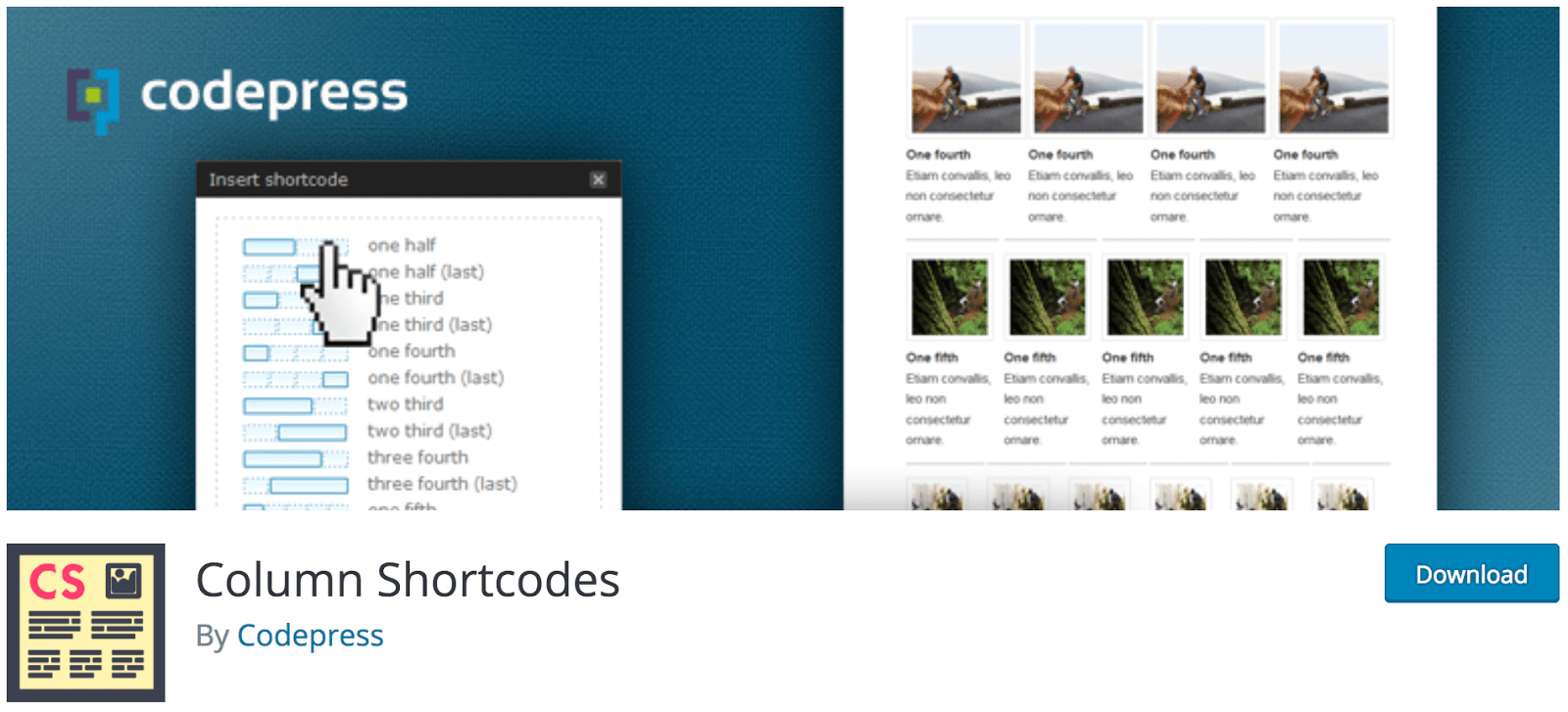 Column shortcodes for wordpress