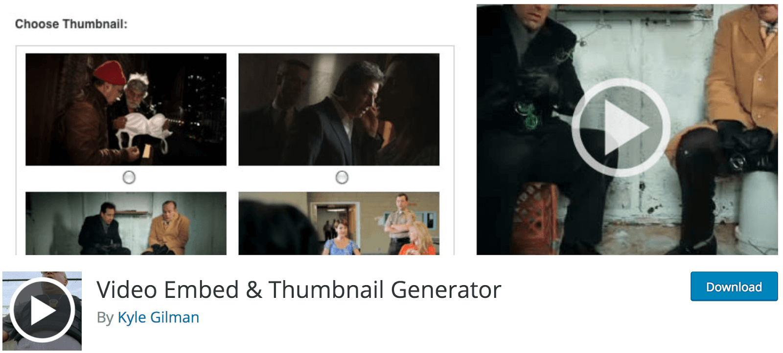 Video embed and thumbnail generator