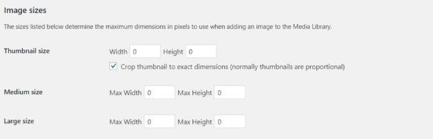 Change image size in wordpress media library