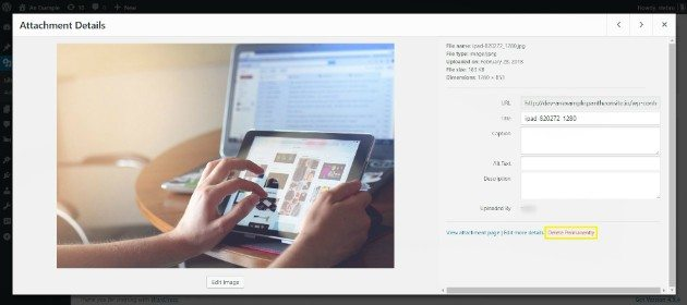 Delete unused images in wordpress media library