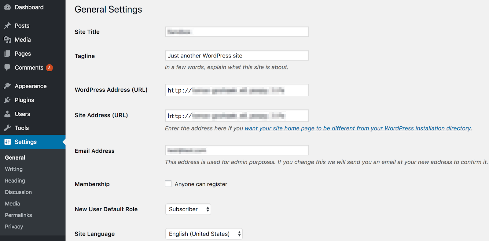 Change Your URL Within WordPress