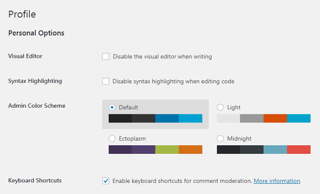 formatting shortcuts in wordpress